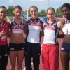 Jessica Ennis, Gemma Weetman, Me, Katia Lannon and Phylis Agbo at the Desenzano Multi event challenge