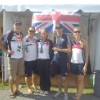 Medical team with Sophie Hitchon winner of gold medal in Hammer at 2010 World Junior Championships